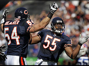 Briggs is #55, dancing with Urlacher